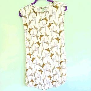 H&M alligator t-shirt dress size 2